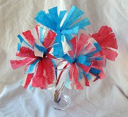 Patriotic Coffee Filter Blooms