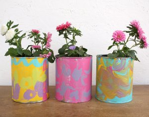 Hand-Painted Flower Pots