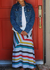 Stripe Play Maxi Dress