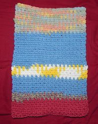 Seed Stitch Burp Cloth