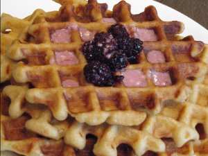 Homemade Blackberry Waffles