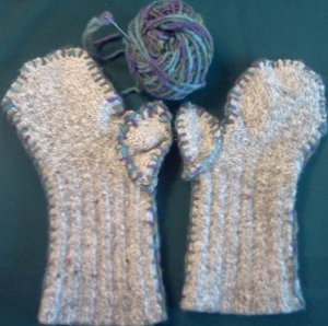 Woolly Sock Mittens