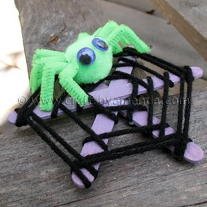 Spooky Spun Spider Web