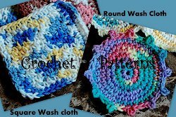 Square and Round Cotton Washcloths