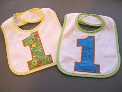 First Birthday Bibs