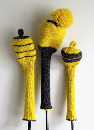 Knit Golf Club Covers