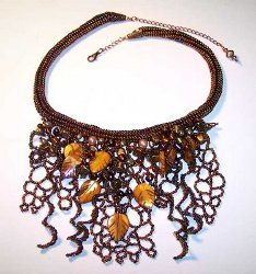 Cascading Autumn Arbor Necklace