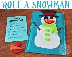 Felt Roll A Snowman Game