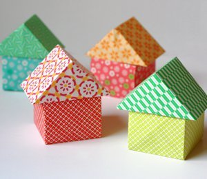 Origami Paper Houses