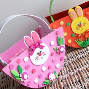 Fun Foam Easter Baskets