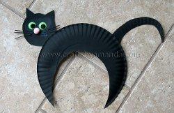 Paper Plate Halloween Cat