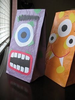 Halloween Monster Paper Bags
