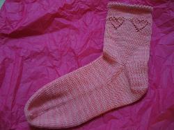 Ruffled Heart Socks