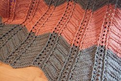 Crocheted Shell Ripple Afghan