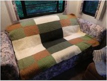 Seed Stitch Crocheted Afghan