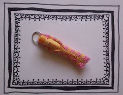 Crocheted Lip Balm Keychain