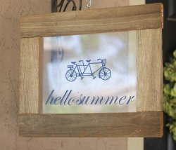 Custom Summer Greeting Sign