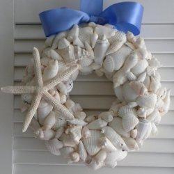 Beach Seashell Wreath