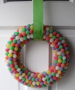 Bright and Colorful Gumdrop Wreath