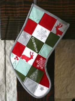 Patchwork Baby Clothes Christmas Stocking