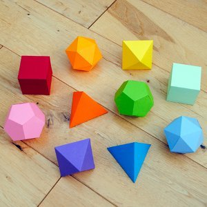 Platonic Solids Geometric Shapes