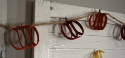 Recycled Pumpkin Garland
