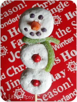 Edible Snowman on a Stick