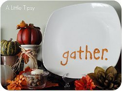 Personalized Message Plate