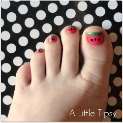 Cute Watermelon Pedicure
