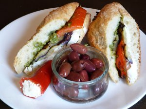 Mediteranian Grilled Vegetable Sandwich