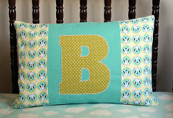 Applique Initial Pillow (page 13)