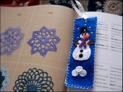 Layered Felt Winter Bookmarks
