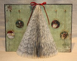 Christmas Tree Altered Book