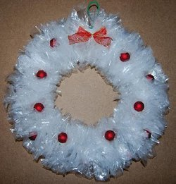 Sandwich Baggie Wreath