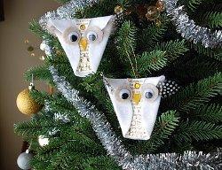 Snowy Owl Ornaments