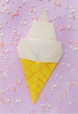Ice Cream Origami
