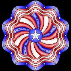 Patriotic Mandala Coloring Page