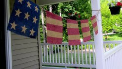 Burlap Star and Stripes Bunting