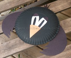 Cute Paper Plate Crow
