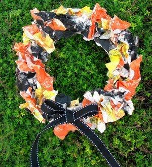 Rumpled Halloween Wreath