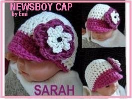 Newborn Newsboy Cap