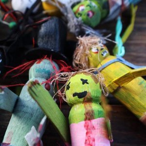 Zany Clothespin Zombies
