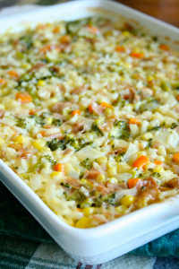 Kitchen Sink Rice Bake