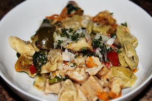 Dump 'N Go Vegetable Tortellini Alfredo