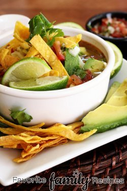 Copycat Version of Cafe Rio's Chicken Tortilla Soup