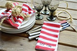 Nautical Painted Napkins