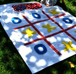 Tic Tac Toe Beach Blanket
