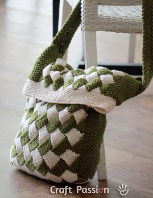 Entrelac Messenger Bag
