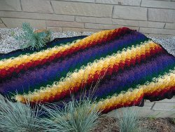Vibrant Catherine Wheel Afghan