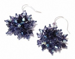 Glamorous Crystal Cluster Earrings